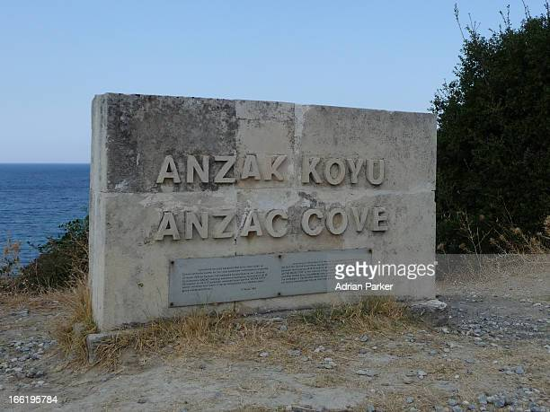CONTENT] The place name sign located at Anzac Cove on the Gallipoli peninsula in Turkey