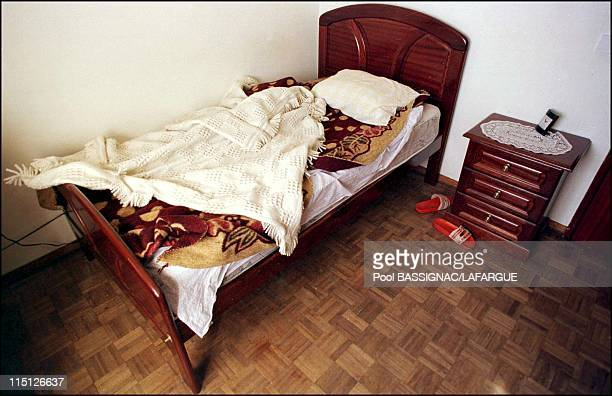 The place where fugitive Sid Ahmed Rezala was before he was arrested by Portugese police in Portugal on January 12 2000 Rezala's room at Fernando's...