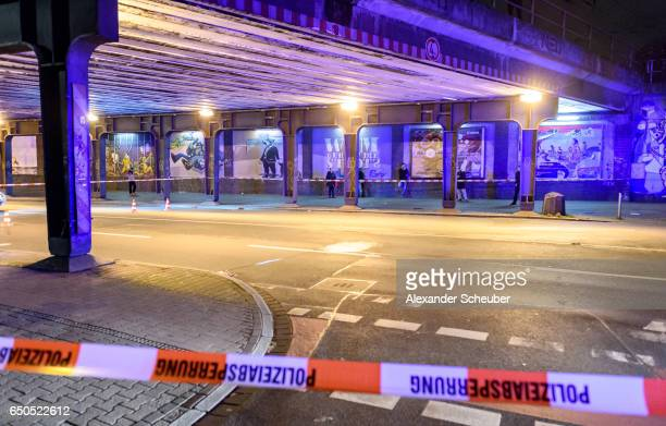 The place where the attacker got arrested by the police during police and emergency workers stand outside the main railway station following what...