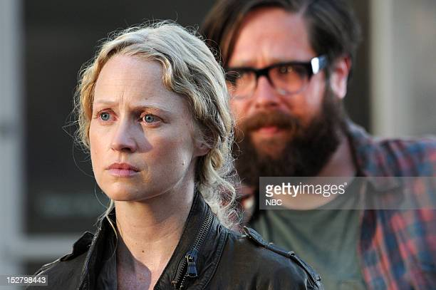 REVOLUTION 'The Plague Dogs' Episode 104 Pictured Anna Lise Phillips as Maggie Zak Orth as Aaron