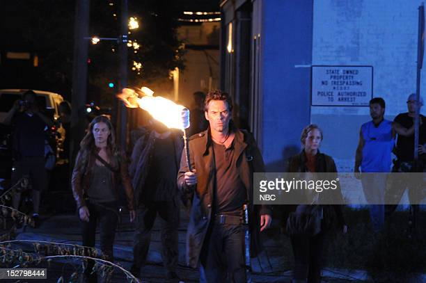 REVOLUTION 'The Plague Dogs' Episode 104 Pictured Tracy Spiridakos as Charlie Matheson Zak Orth as Aaron Billy Burke as Miles Matheson Anna Lise...