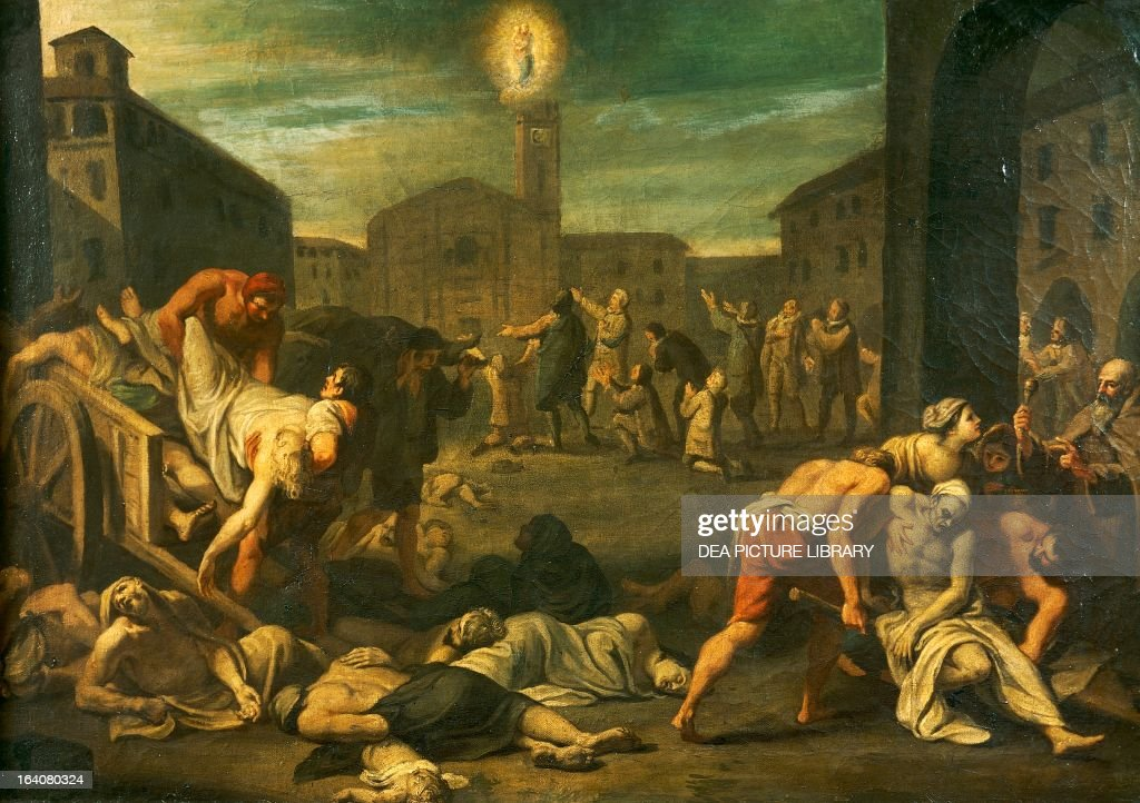 The plague in Rome. Italy... : News Photo