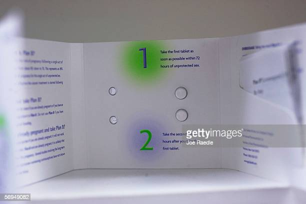 The Plan B pill also known as the morning after pill is displayed on a pharmacy shelf February 27 2006 in Boston Massachusetts Many states may have...