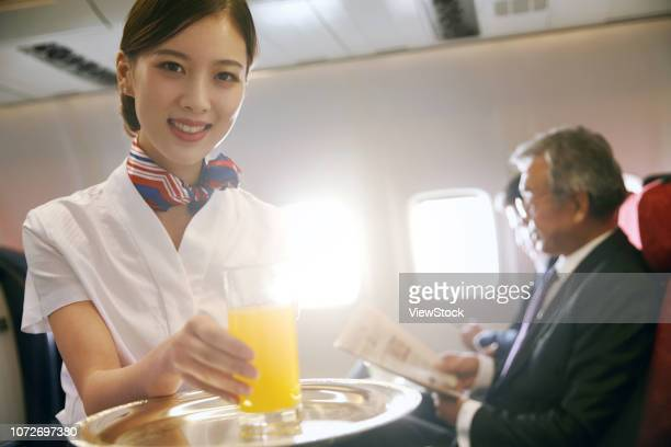 the plane cabin service - 乗員 ストックフォトと画像