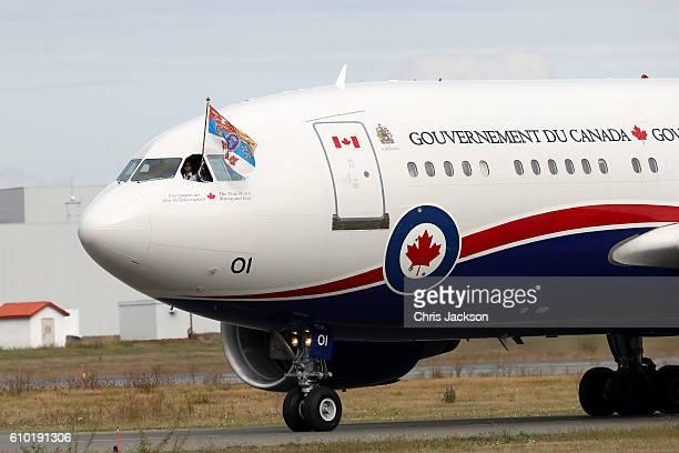 The plane carrying Prince William, Duke of Cambridge, Catherine, Duchess of Cambridge, Prince George of Cambridge and Princess Charlotte of Cambridge...