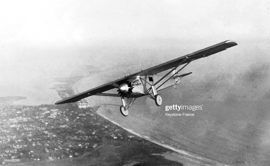 The plane SPIRIT OF SAINT-LOUIS of Col. Charles A. LINDBERGH piloted on his epochal non-stop flight from New York to Paris. He was the first to cross the Atlantic from West to East in 33 hours and 30 minutes.
