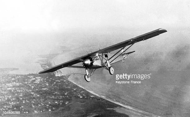 The plane SPIRIT OF SAINTLOUIS of Col Charles A LINDBERGH piloted on his epochal nonstop flight from New York to Paris He was the first to cross the...
