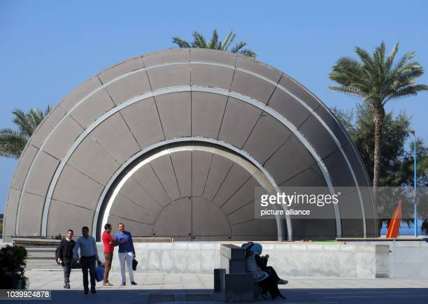 The planetarium of the new library building in Alexandria Egypt 7 April 2017 The library was completed in 2002 and is situated near the harbour in...