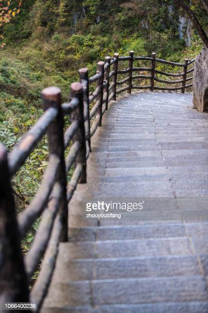 the plank road of the enshi grand canyon, hubei, china - china execution stock pictures, royalty-free photos & images