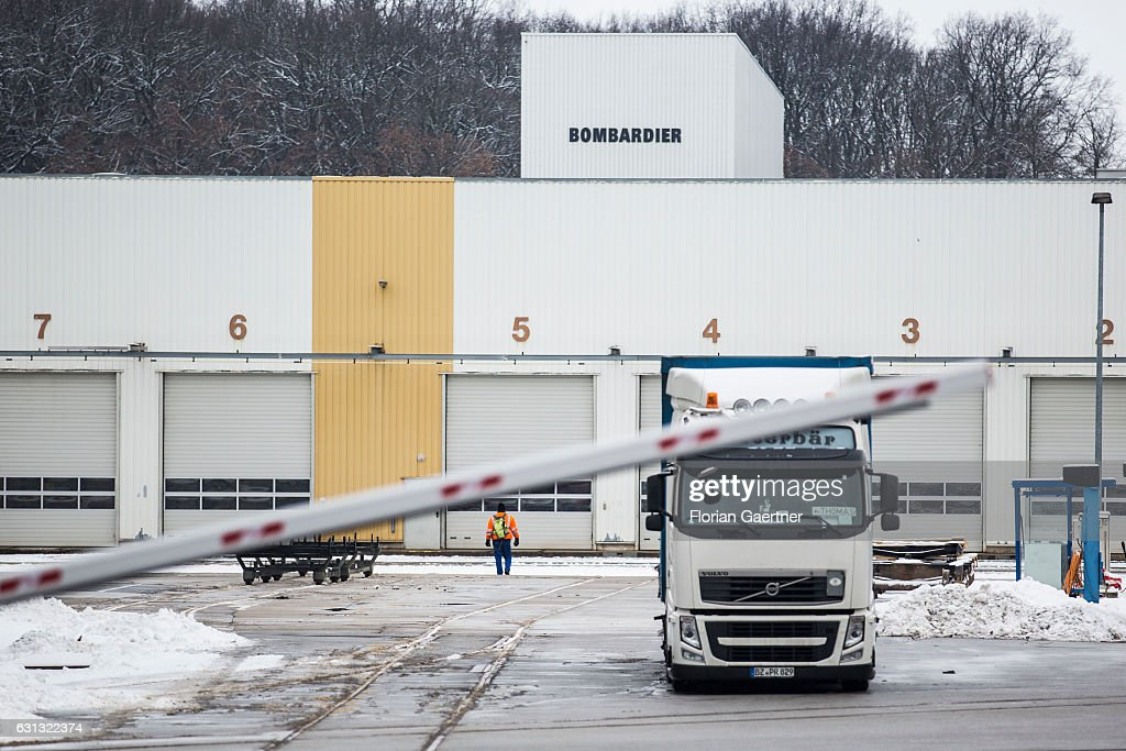 The plant of Bombardier is pictured on January 09, 2017 in Bautzen, Germany. According to media reports Canadian train manufacturer Bombardier considers closing some of their plants in Germany.