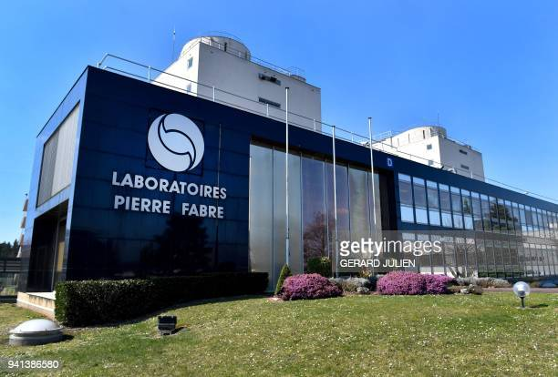 The plant of French multinational pharmaceutical company 'Pierre Fabre' in Gien is pictured on March 21 2018 The Gien site is the groups most...