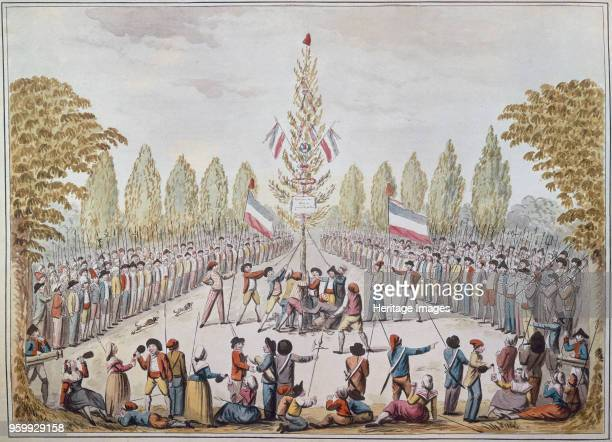 The Planting of a Liberty pole, 1792. Found in the Collection of Musée Carnavalet, Paris. )