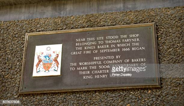 The plaque is near the monument in London which was built to commemorate the great fire of London in 1666 the fire started in Pudding Lane Created by...