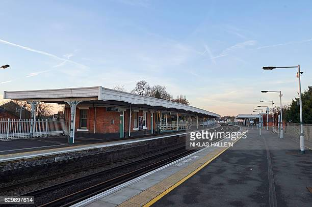 The platforms at Selhurst train station are seen empty as train drivers stage a second day of industrial action leading to the station being closed...