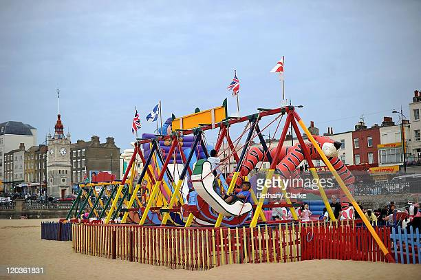 The play area on Margate Main Sands beach on August 2 2011 in Margate England The east Kent seaside town of Margate is currently undergoing...