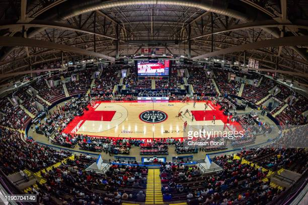 The play drives across the court at the Paramount Fine Foods Centre on December 28, 2019 in Mississauga, Ontario. NOTE TO USER: User expressly...