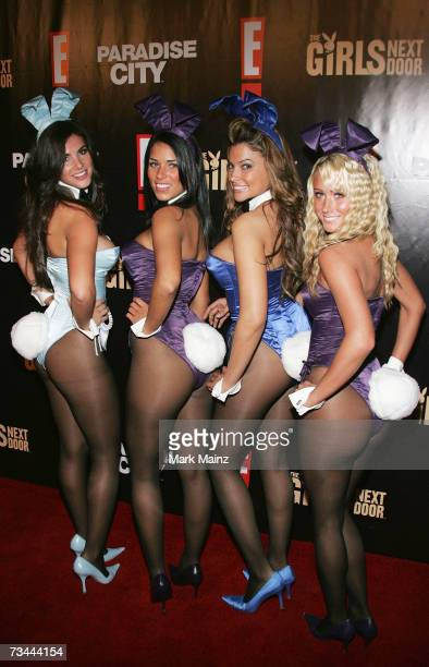 The Playboy Bunnies attend the launch party for season three of The Girls Next Door at the Playboy Mansion February 27 2007 in Bel Air California