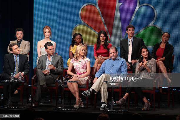 AUGUST 2011 The Playboy Club Session Pictured Front Row Chad Hodge Exeuctive Producer Eddie Cibrian Amber Heard Ian Biederman Executive Producer...