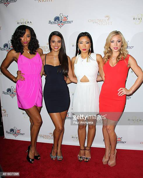The Playboy Playmate Dancers Neferteri Shepherd Raquel Pomplun Hiromi Oshima and Nikki Leigh attend the annual Stars Stripes charity event hosted by...