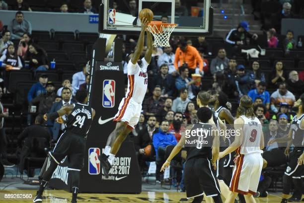 the player James Johnson of the team Miami Heat is seen in action during the match of NBA between of Miami Heat and Brooklyn Nets on December 09 2017...