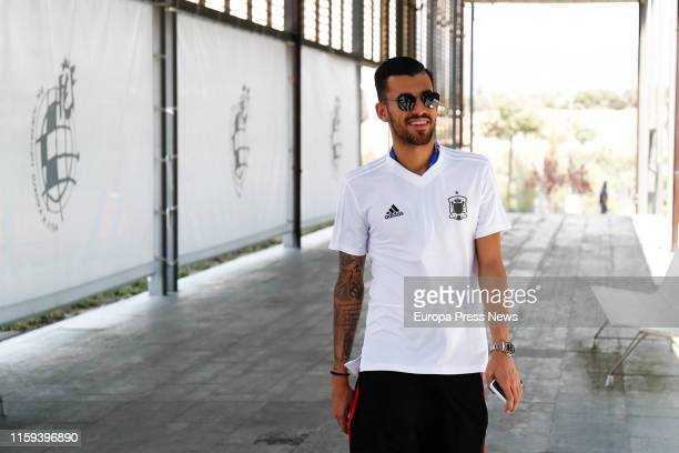 The player of the Spanish National Team Under 21 Dani Ceballos is seen during a welcome act to the Under 21 European Football Champions celebrated in...