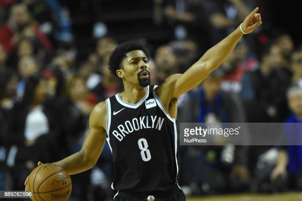 the player Spencer Dinwiddie of the team Brooklyn Nets is seen in action during the match of NBA between of Miami Heat and Brooklyn Nets on December...