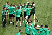 kazan russia players celebrate after scoring