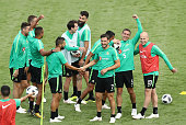 kazan russia players celebrate after scoring