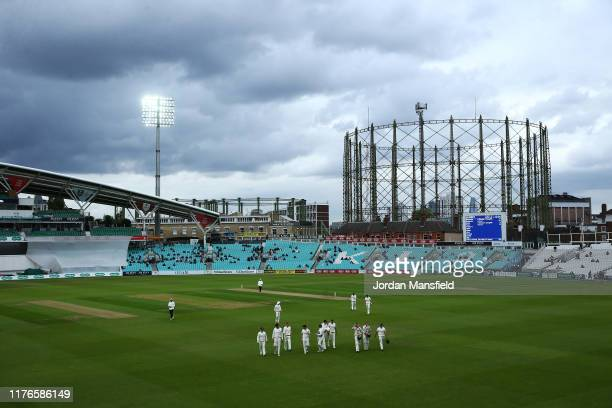 The players come off for bad light during Day One of the Specsavers County Championship Divsion One match between Surrey and Nottinghamshire at The...