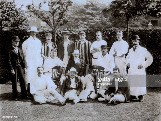 The Players cricket team prior to their match against The Gentlemen at The Oval in London on 5th July 1894 The Players won by an innings and 27 runs...
