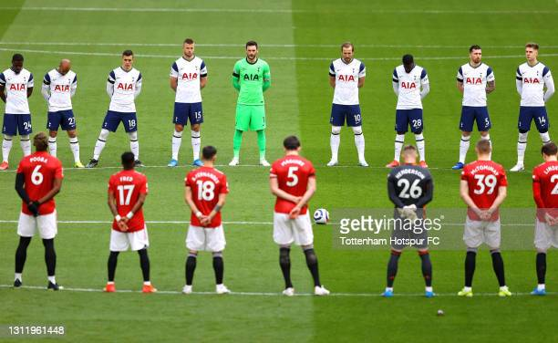 The Players observe a two minutes' silence in memory of HRH Prince Phillip, The Duke of Edinburgh who passed away recently prior to the Premier...