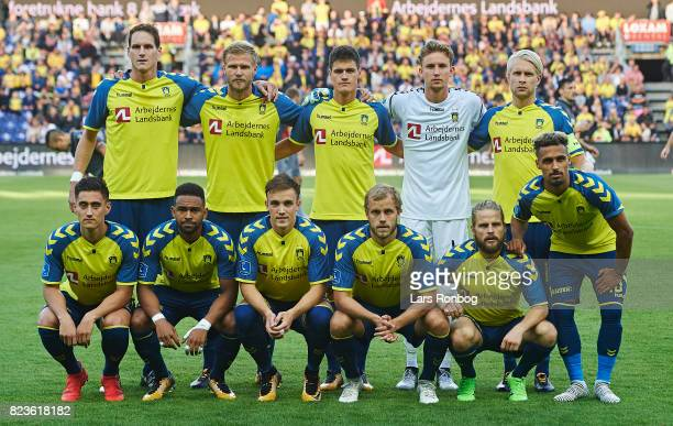 The players of Brondby IF pose for a group picture prior to the UEFA Europa League Qual match between Brondby IF and Hajduk Split at Brondby Stadion...
