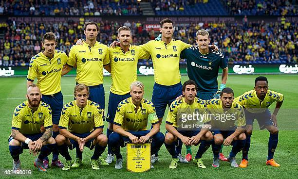 The players of Brondby IF pose for a teamphoto prior to the UEFA Europa League Qualification match between Brondby and AC Omonoia at Brondby Stadion...