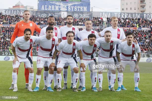the players of Cagliari during the Serie A match between Cagliari Calcio and AC Milan at Sardegna Arena on January 11 2020 in Cagliari Italy