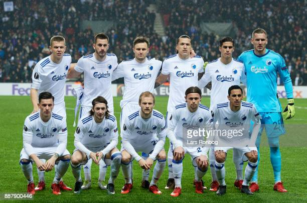 The players of FC Copenhagen Denis Vavro Michael Luftner William Kvist Federico Santander Pieros Sotiriou Robin Olsen Benjamin Verbic Rasmus Falk...