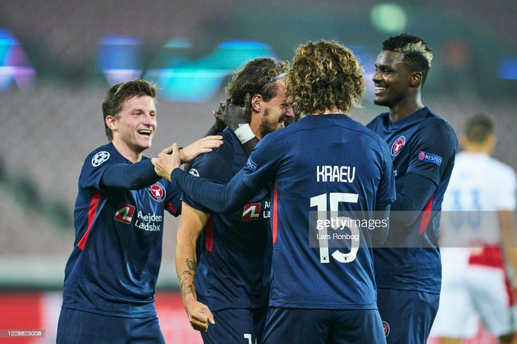 FC Midtjylland vs Slavia Prague - UEFA Champions League Playoff 2nd Leg : News Photo