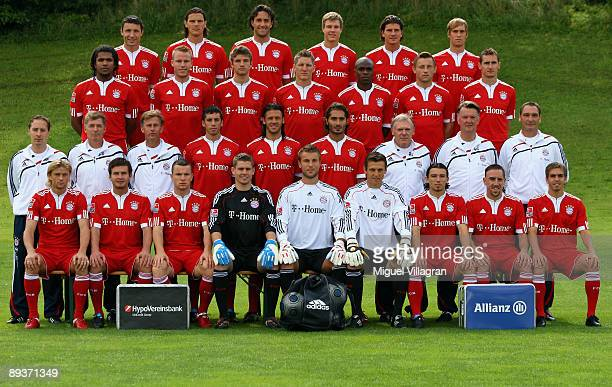 The players of German Bundesliga first division soccer club Bayern Munich pose for the team photograph for the upcoming season on July 28 2009 in...