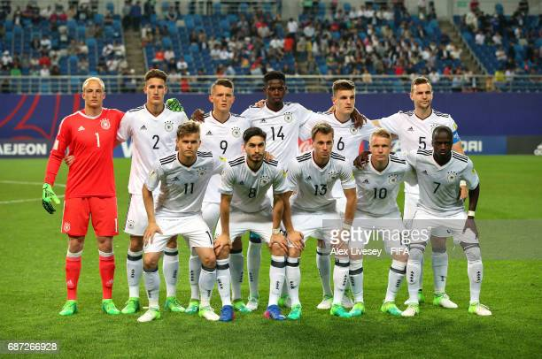 The players of Germany pose for a team photograph prior to the FIFA U20 World Cup Korea Republic 2017 group B match between Mexico and Germany at...