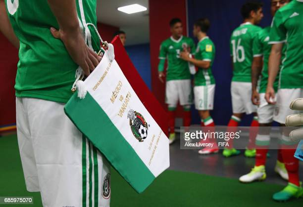 The players of Mexico wait in the tunnel prior to walking out for the FIFA U20 World Cup Korea Republic 2017 group B match between of Vanuatu and...