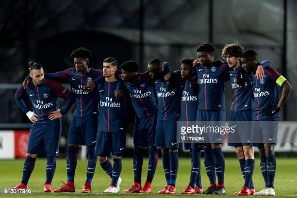 the players of Paris SaintGermain U19 at the penalty serie during the UEFA Youth League play off match between Ajax U19 and Paris Saint Germain U19...