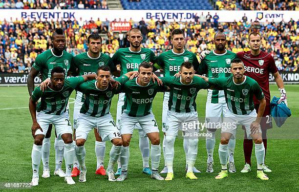 The players of PFC Beroe Stara Zagora pose for a group photo prior to the UEFA Europa League Qualification match between Brondby IF and PFC Beroe...