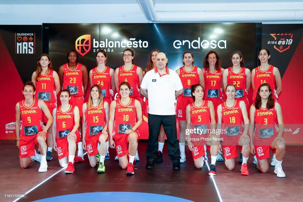 ESP: Spanish Women's Basketball Team Presentation In Madrid