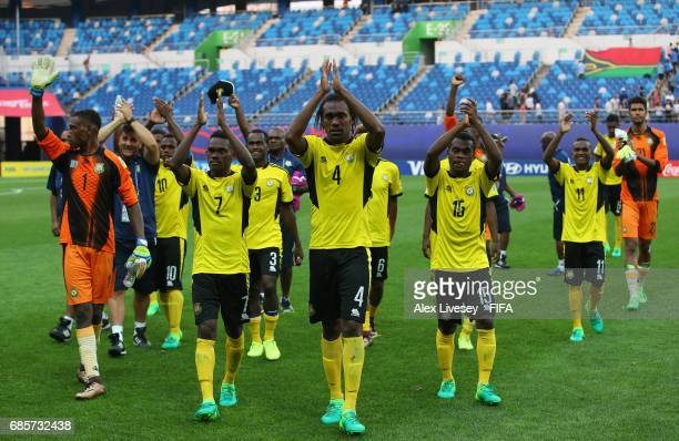 The players of Vanuatu applaud their support after the FIFA U20 World Cup Korea Republic 2017 group B match between of Vanuatu and Mexico at Daejeon...