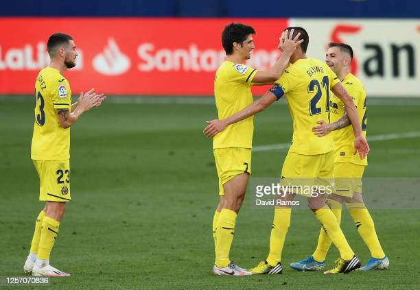 The players of Villarreal say goodbye to Bruno of Villarreal after his last match for the club during the Liga match between Villarreal CF and SD...