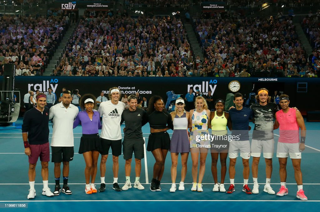 Tennis Rally for Relief : News Photo