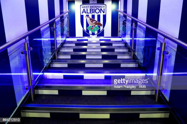 The players tunnel steps leading to the dressing rooms during the Premier League match between West Bromwich Albion and Manchester United at The...