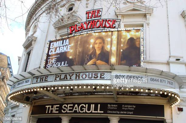 The Playhouse theatre in Northumberland Avenue current home to 'The Seagull' in London's home of Theatre - The West End. Some of the most famous...