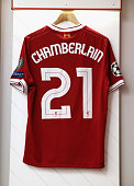 liverpool england playing shirt alex oxladechamberlain