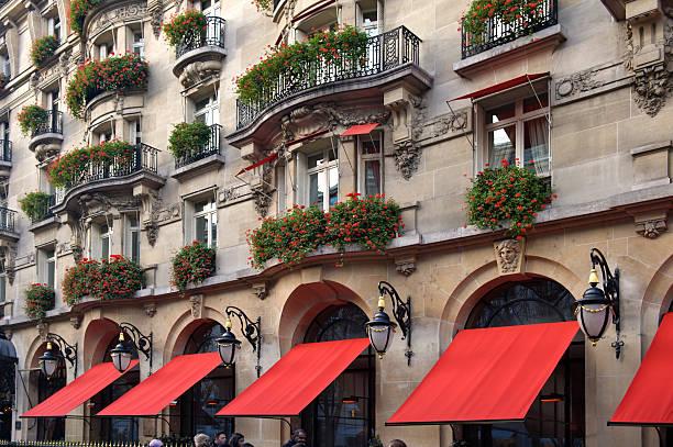 The Plaza Athenee hotel at  Avenue Montaigne