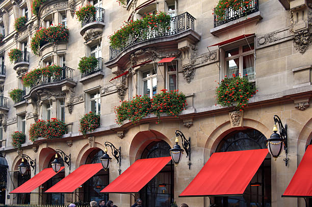 The Plaza Athenee hotel at  Avenue Montaigne